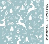 christmas seamless pattern with ... | Shutterstock .eps vector #1429861409