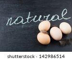 fresh organic eggs. selective... | Shutterstock . vector #142986514