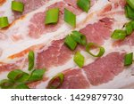 uncured apple smoked bacon...   Shutterstock . vector #1429879730