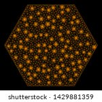 glowing mesh filled hexagon... | Shutterstock .eps vector #1429881359
