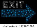 flare mesh exit arrow with glow ... | Shutterstock .eps vector #1429881380