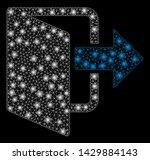 glowing mesh exit door with... | Shutterstock .eps vector #1429884143