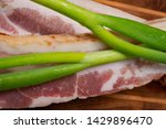uncured apple smoked bacon...   Shutterstock . vector #1429896470