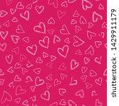 hearts seamless pattern... | Shutterstock .eps vector #1429911179