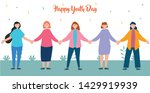 group youth people hugging... | Shutterstock .eps vector #1429919939