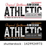 typography athletic sport... | Shutterstock .eps vector #1429924973