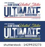 typography ultimate sport... | Shutterstock .eps vector #1429925273