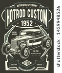 Hotrod Custom Vintage Poster...