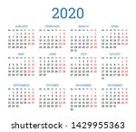 simple traditional calendar... | Shutterstock .eps vector #1429955363