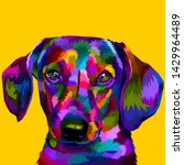 Dachshund Dog On Pop Art...