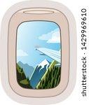 aairplane window vector... | Shutterstock .eps vector #1429969610