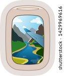 aairplane window vector... | Shutterstock .eps vector #1429969616