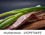 uncured apple smoked bacon...   Shutterstock . vector #1429976693