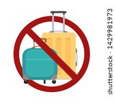 ban on luggage. flat... | Shutterstock .eps vector #1429981973