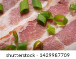 uncured apple smoked bacon...   Shutterstock . vector #1429987709