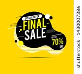 final sale banner  up to 70 ... | Shutterstock .eps vector #1430007386