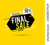 final sale banner  up to 70 ...   Shutterstock .eps vector #1430007419