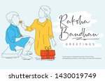 rakhi  indian brother and...   Shutterstock .eps vector #1430019749