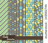 Set Of Seamless Patterns Cute...