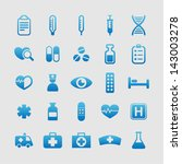 set of medical icons | Shutterstock .eps vector #143003278