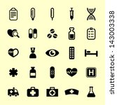 medicine and health icon set | Shutterstock .eps vector #143003338