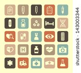 medicine and health icons | Shutterstock .eps vector #143003344