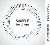 halftone dots in circle form.... | Shutterstock .eps vector #1430034470