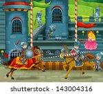 the cartoon medieval... | Shutterstock . vector #143004316