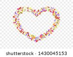heart confetti isolated white... | Shutterstock .eps vector #1430045153