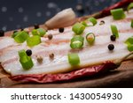 uncured apple smoked bacon...   Shutterstock . vector #1430054930
