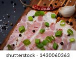 uncured apple smoked bacon...   Shutterstock . vector #1430060363