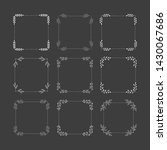 set of hand drawn squared... | Shutterstock .eps vector #1430067686