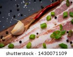uncured apple smoked bacon...   Shutterstock . vector #1430071109