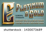 platinum and gold is an ornate... | Shutterstock .eps vector #1430073689