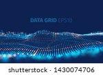 data grid vector abstract... | Shutterstock .eps vector #1430074706