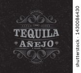 tequila anejo logo. tequila... | Shutterstock .eps vector #1430086430