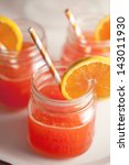 Red Party Punch With Orange...