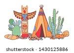 native american indians ... | Shutterstock .eps vector #1430125886