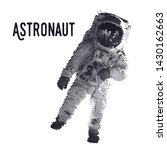 astronaut black and white... | Shutterstock .eps vector #1430162663
