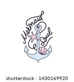 mermaid soul vector... | Shutterstock .eps vector #1430169920