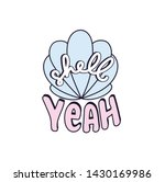 shell yeah vector illustration... | Shutterstock .eps vector #1430169986