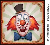 vintage circus poster with... | Shutterstock .eps vector #1430188220