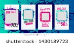 editable templates for social... | Shutterstock .eps vector #1430189723