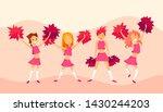 cheerleaders   cartoon... | Shutterstock .eps vector #1430244203