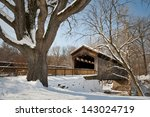 Ada Covered Bridge Wintertime...