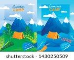 cartoon summer camp vertical... | Shutterstock .eps vector #1430250509