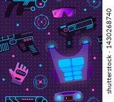 gamer in laser tag vector...   Shutterstock .eps vector #1430268740