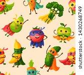 superhero fruits vector fruity... | Shutterstock .eps vector #1430268749