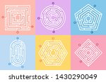 labyrinth game. maze conundrum  ...   Shutterstock . vector #1430290049