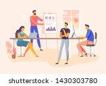 business meeting. office team... | Shutterstock . vector #1430303780